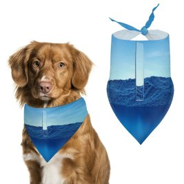yanfind Pet Scarf Karan Gujar Island Glass Illumination Scenic Fusion Pet Outfit Kerchiefs Accessories for Small to Large Dogs Cats