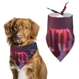 yanfind Pet Scarf Karim Sayed Others Workout Limitless Endurance Gym Colorful Pet Outfit Kerchiefs Accessories for Small to Large Dogs Cats
