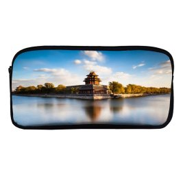 yanfind Pencil Case YHO Forbidden City Beijing China Moat Imperial Palace Ming Dynasty Exposure UNESCO Heritage Zipper Pens Pouch Bag for Student Office School