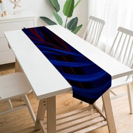 Yanfind Table Runner Aleksandar Pasaric Dark Plant Leaves Everyday Dining Wedding Party Holiday Home Decor