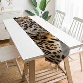 Yanfind Table Runner Tambako Jaguar Leopardess Jaguar Closeup Portrait Big Cat Wild Predator Carnivore Face Everyday Dining Wedding Party Holiday Home Decor
