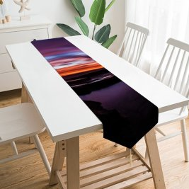 Yanfind Table Runner Andrés Nieto Porras Dark Love Couple Sunset Silhouette Together Romantic Colorful Sky Everyday Dining Wedding Party Holiday Home Decor