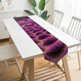 Yanfind Table Runner Talip ÇETİN Lavender Fields Landscape Sky Garden Blossom Everyday Dining Wedding Party Holiday Home Decor