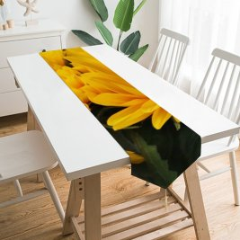 Yanfind Table Runner Anja Flowers Sunflowers Blossom Spring Floral Closeup Macro Beautiful Flower Garden Petals Everyday Dining Wedding Party Holiday Home Decor