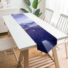 Yanfind Table Runner Andrés Nieto Porras Road Mountains Snow Covered Glacier Landscape Beautiful Iceland Clouds Everyday Dining Wedding Party Holiday Home Decor