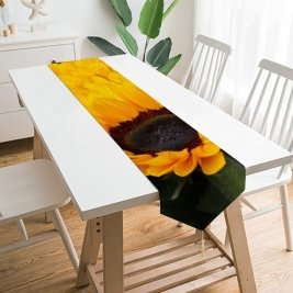 Yanfind Table Runner Anja Flowers Sunflowers Blossom Spring Floral Closeup Beautiful Flower Garden Everyday Dining Wedding Party Holiday Home Decor