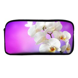 yanfind Pencil Case YHO Flowers Orchid Flowers Orchids Zipper Pens Pouch Bag for Student Office School
