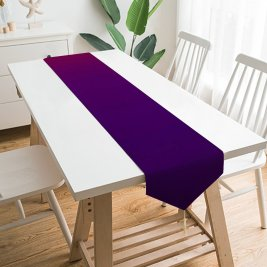 Yanfind Table Runner Gradients Violet Ubuntu Mascot Everyday Dining Wedding Party Holiday Home Decor
