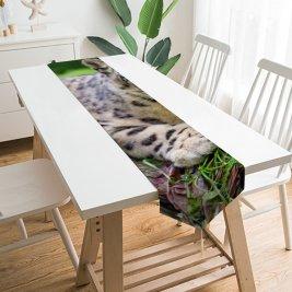 Yanfind Table Runner Tambako Jaguar Snow Leopard Wild Cat Predator Carnivore Stare Everyday Dining Wedding Party Holiday Home Decor
