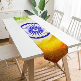 Yanfind Table Runner Indian Flag Tricolour Flag National Flag Flag India Everyday Dining Wedding Party Holiday Home Decor