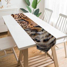 Yanfind Table Runner Tambako Jaguar Leopard Wild Closeup Face Big Cat Carnivore Predator Portrait Everyday Dining Wedding Party Holiday Home Decor