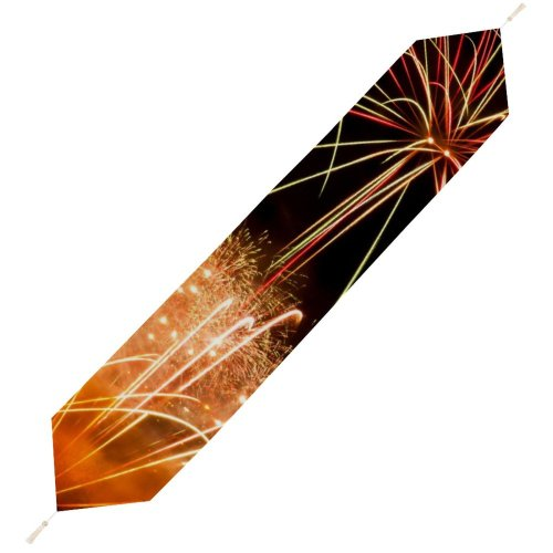 Yanfind Table Runner Light Fireworks Th Movember Trails Festival Midnight Fte Event Year's Eve Diwali Everyday Dining Wedding Party Holiday Home Decor
