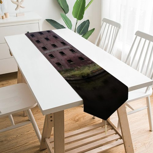 Yanfind Table Runner Rowing River Oxford Sunlight Sky Tree Cloud Natural Landscape Everyday Dining Wedding Party Holiday Home Decor