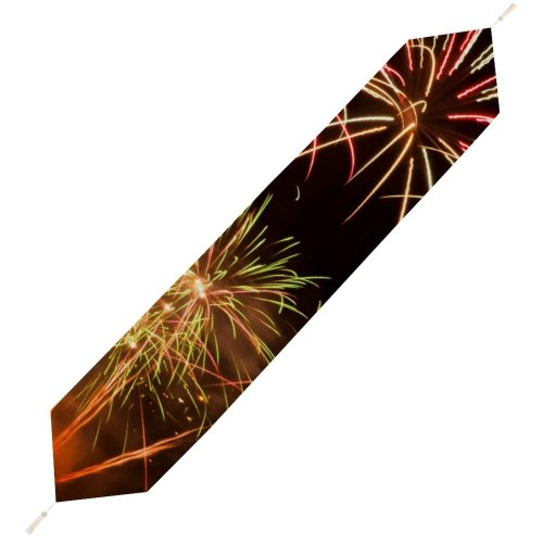 Yanfind Table Runner Light Fireworks Th Movember Trails Midnight Diwali Festival Event Year's Eve Fte Everyday Dining Wedding Party Holiday Home Decor