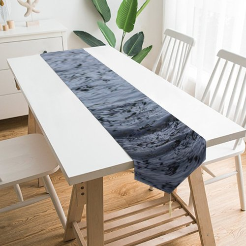 Yanfind Table Runner River Riverhead Flowing Trees Banks Bank Sky Resources Vegetation Waterway Everyday Dining Wedding Party Holiday Home Decor