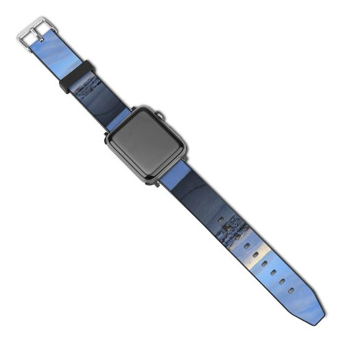 yanfind Watch Strap for Apple Watch Winter Cloud Sky  Horizon Iceland Winter Morning Freezing Snow Patterns Compatible with iWatch Series 5 4 3 2 1
