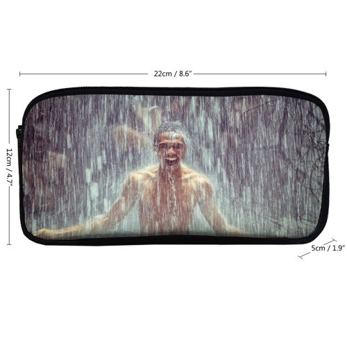 yanfind Pencil Case YHO  Happy Sexy Boys  Waterfall Pouring  Nude Bath Motion Shower Zipper Pens Pouch Bag for Student Office School