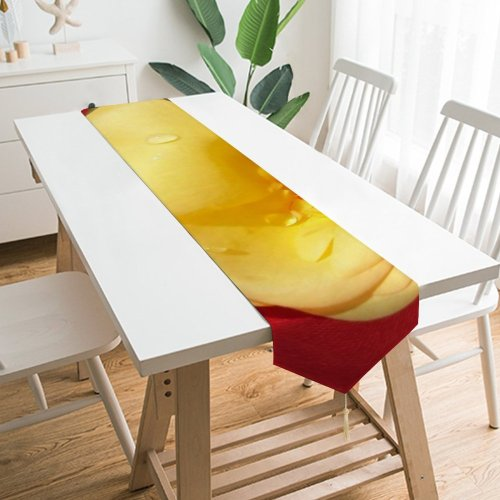 Yanfind Table Runner River Spring Woods Forest Melting Ice Stream Brook Sea Tree Wave Ocean Everyday Dining Wedding Party Holiday Home Decor
