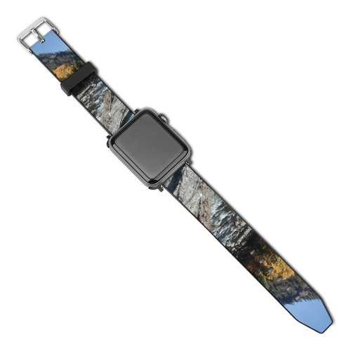 yanfind Watch Strap for Apple Watch River Washington  Autumn Tree  Mountainous Landforms Wilderness Leaf Sky Natural Compatible with iWatch Series 5 4 3 2 1
