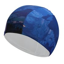 yanfind Swimming Cap Dominic Kamp Lauterbrunnen Valley Rivendell Mountains Landscape Elastic,suitable for long and short hair