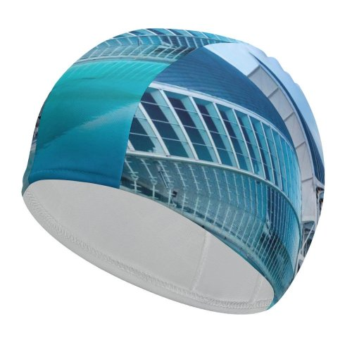 yanfind Swimming Cap William Warby City Sciences Valencia Spain Pool Hour Sky Evening Reflection Elastic,suitable for long and short hair