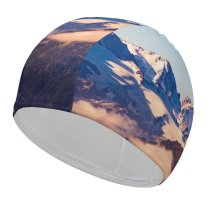 yanfind Swimming Cap Olivier Miche Swiss Alps Mountains  Peaks Switzerland Elastic,suitable for long and short hair