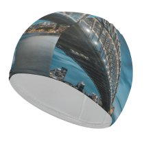yanfind Swimming Cap Sydney Harbour  Milsons Point Australia Cityscape River Night Lights Sky Elastic,suitable for long and short hair