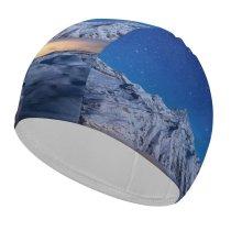 yanfind Swimming Cap Dominic Kamp Gorner  Starry Sky Astronomy Switzerland Elastic,suitable for long and short hair