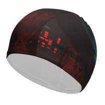 yanfind Swimming Cap Technology Dark Anonymous Hacker Data Elastic,suitable for long and short hair