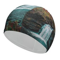 yanfind Swimming Cap Images Fall Autumn I River Landscape Public Wallpapers Falloch Plant Falls Outdoors Elastic,suitable for long and short hair