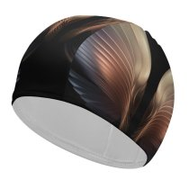yanfind Swimming Cap Abstract Dark Galaxy W Fold AMOLED Angel Elastic,suitable for long and short hair