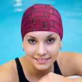 yanfind Swimming Cap Wesley Tingey Brick Wall Magenta Bricks Gradients Elastic,suitable for long and short hair