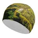 yanfind Swimming Cap Wasim Nazareth Cedar Creek Grist Mill Woodland Washington State Forest Landscape Trees Elastic,suitable for long and short hair