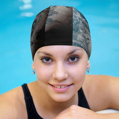 yanfind Swimming Cap Yuri Samoilov Space  Planet Astronomy Night Daylight Elastic,suitable for long and short hair