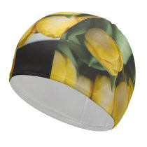 yanfind Swimming Cap Images Bouquet Daffodil Floral  Spring Petal Word Wallpapers Plant Decor Tulip Elastic,suitable for long and short hair