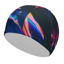 yanfind Swimming Cap Originative GraphiX Abstract Colorful Digital Art  Android Elastic,suitable for long and short hair