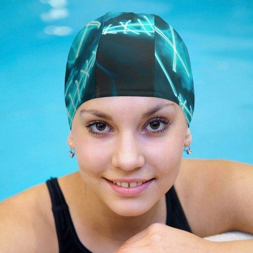 yanfind Swimming Cap Vitaliy Art LED Neon Urban Elastic,suitable for long and short hair