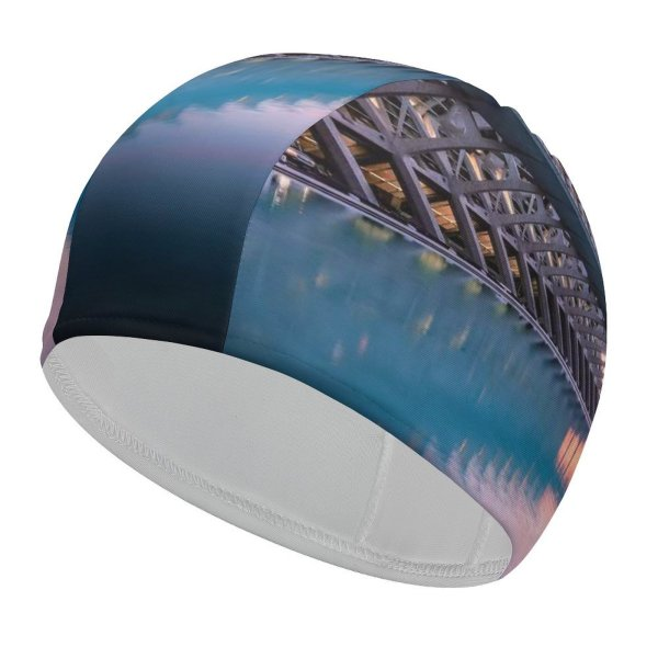 yanfind Swimming Cap William Warby City Sciences Valencia Spain Sunrise Pool Reflection Architecture Elastic,suitable for long and short hair
