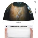 yanfind Swimming Cap William Warby Black Dark  Night Wildlife Elastic,suitable for long and short hair