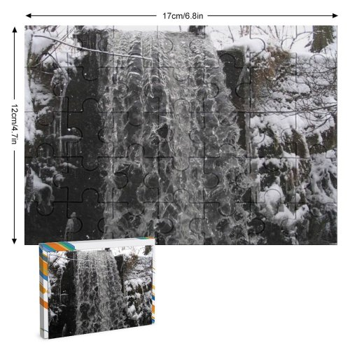 yanfind Picture Puzzle Waterfall Winter  Snow Freezing Tree Watercourse Resources Branch Family Game Intellectual Educational Game Jigsaw Puzzle Toy Set