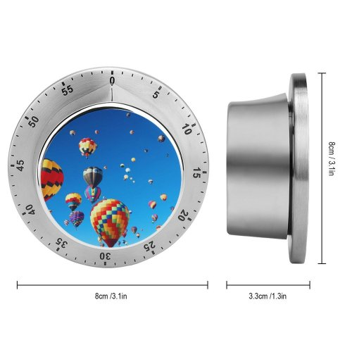 yanfind Timer Hot  Balloons Festival Colorful Sky 60 Minutes Mechanical Visual Timer