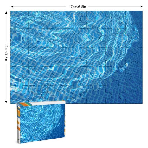 yanfind Picture Puzzle  Texture Pool Summer Crystal Clear Transparent Aqua Electric Azure Technology Family Game Intellectual Educational Game Jigsaw Puzzle Toy Set