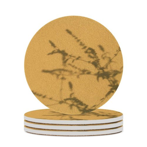 yanfind Ceramic Coasters (round) Stone Shadows Soft Hard Wall Walls Branches Branch Texture Desktop Stucco Minolta Family Game Intellectual Educational Game Jigsaw Puzzle Toy Set