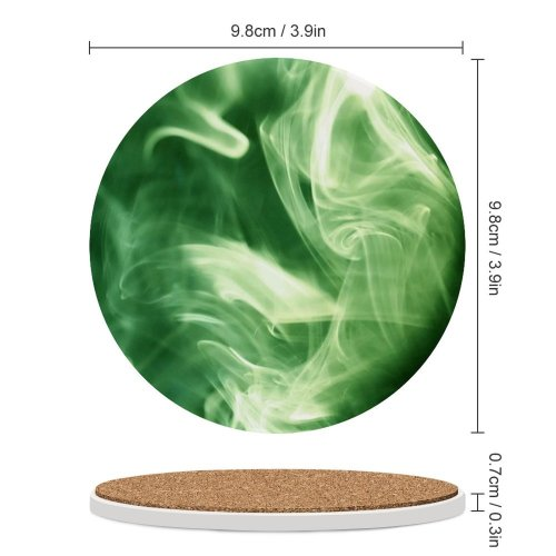 yanfind Ceramic Coasters (round) Smokey Smoking Cloudy CLouds Light SHapes Grey Fire Cloud Graphics Fractal Art Family Game Intellectual Educational Game Jigsaw Puzzle Toy Set
