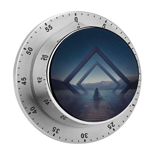 yanfind Timer Alexandra Gruber Fantasy Alone Meditation Spiritual Landscape Evening Surreal 60 Minutes Mechanical Visual Timer