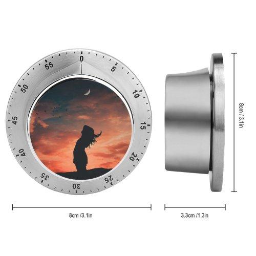 yanfind Timer Alexandro David Girl Silhouette Evening Sky   Dusk Mood 60 Minutes Mechanical Visual Timer