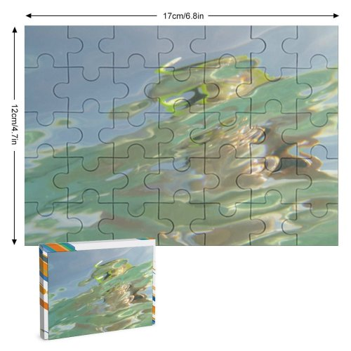 yanfind Picture Puzzle  Ripples Effects Texture Liquid Sea Swim Art Family Game Intellectual Educational Game Jigsaw Puzzle Toy Set