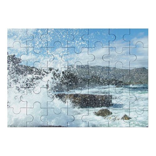 yanfind Picture Puzzle  Wave Beach Beaches Vacation Hermanus Cape Town Sea Ocean Wind Sky Family Game Intellectual Educational Game Jigsaw Puzzle Toy Set