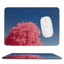 yanfind The Mouse Pad Landscape Plant Creative Infrared Pictures Outdoors Tree Flower Vegetation Maple Swiss Pattern Design Stitched Edges Suitable for home office game