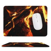 yanfind The Mouse Pad Alaska Pictures Outdoors Fire Free Burning Flame Campfire Bonfire Flames Usa Pattern Design Stitched Edges Suitable for home office game